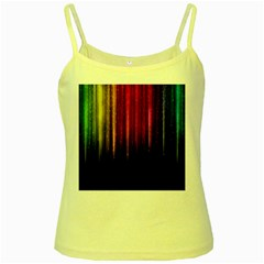 Rain Color Rainbow Line Light Green Red Blue Gold Yellow Spaghetti Tank by Mariart