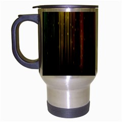 Rain Color Rainbow Line Light Green Red Blue Gold Travel Mug (silver Gray) by Mariart
