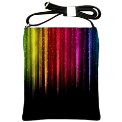 Rain Color Rainbow Line Light Green Red Blue Gold Shoulder Sling Bags by Mariart