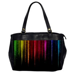 Rain Color Rainbow Line Light Green Red Blue Gold Office Handbags by Mariart