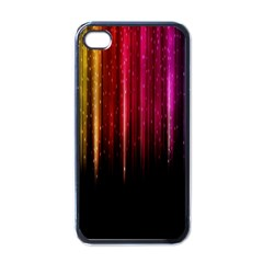 Rain Color Rainbow Line Light Green Red Blue Gold Apple Iphone 4 Case (black)