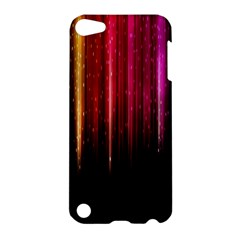 Rain Color Rainbow Line Light Green Red Blue Gold Apple Ipod Touch 5 Hardshell Case by Mariart