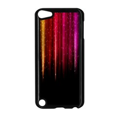 Rain Color Rainbow Line Light Green Red Blue Gold Apple Ipod Touch 5 Case (black) by Mariart
