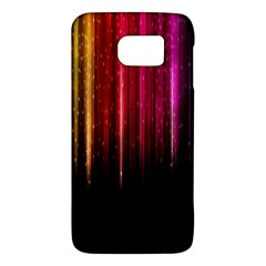 Rain Color Rainbow Line Light Green Red Blue Gold Galaxy S6 by Mariart