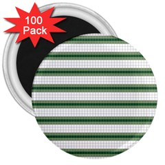 Plaid Line Green Line Horizontal 3  Magnets (100 Pack) by Mariart
