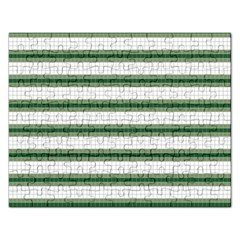 Plaid Line Green Line Horizontal Rectangular Jigsaw Puzzl by Mariart
