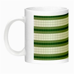 Plaid Line Green Line Horizontal Night Luminous Mugs by Mariart