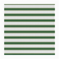 Plaid Line Green Line Horizontal Medium Glasses Cloth