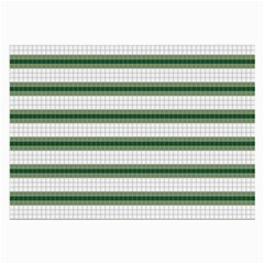 Plaid Line Green Line Horizontal Large Glasses Cloth (2 Side) by Mariart