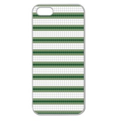 Plaid Line Green Line Horizontal Apple Seamless Iphone 5 Case (clear) by Mariart