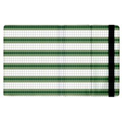 Plaid Line Green Line Horizontal Apple Ipad 2 Flip Case by Mariart