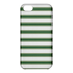 Plaid Line Green Line Horizontal Apple Iphone 5c Hardshell Case by Mariart