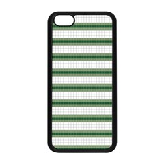 Plaid Line Green Line Horizontal Apple Iphone 5c Seamless Case (black) by Mariart