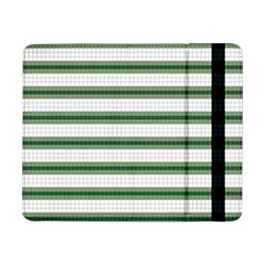 Plaid Line Green Line Horizontal Samsung Galaxy Tab Pro 8 4  Flip Case by Mariart
