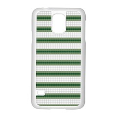 Plaid Line Green Line Horizontal Samsung Galaxy S5 Case (white) by Mariart