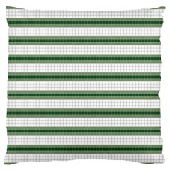 Plaid Line Green Line Horizontal Large Flano Cushion Case (two Sides)