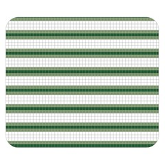 Plaid Line Green Line Horizontal Double Sided Flano Blanket (small)