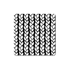Ropes White Black Line Square Magnet by Mariart