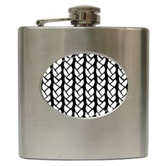 Ropes White Black Line Hip Flask (6 Oz) by Mariart