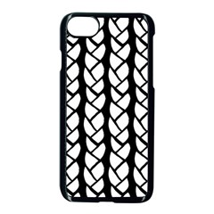 Ropes White Black Line Apple Iphone 7 Seamless Case (black) by Mariart