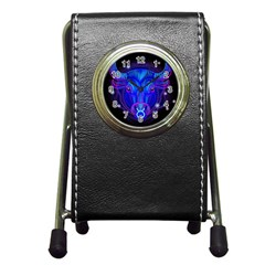 Sign Taurus Zodiac Pen Holder Desk Clocks by Mariart