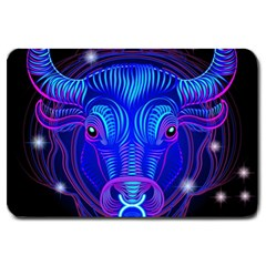 Sign Taurus Zodiac Large Doormat  by Mariart