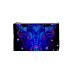 Sign Taurus Zodiac Cosmetic Bag (small)  by Mariart