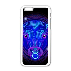 Sign Taurus Zodiac Apple Iphone 6/6s White Enamel Case by Mariart