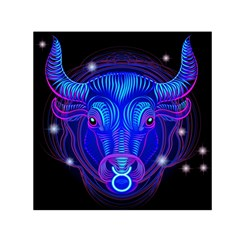 Sign Taurus Zodiac Small Satin Scarf (square)