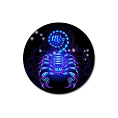 Sign Scorpio Zodiac Magnet 3  (round) by Mariart