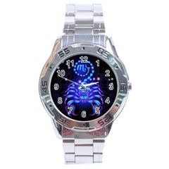 Sign Scorpio Zodiac Stainless Steel Analogue Watch by Mariart