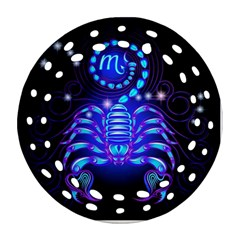 Sign Scorpio Zodiac Round Filigree Ornament (two Sides) by Mariart
