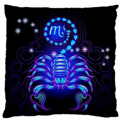 Sign Scorpio Zodiac Large Flano Cushion Case (one Side) by Mariart