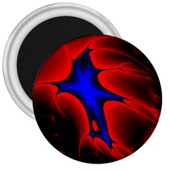 Space Red Blue Black Line Light 3  Magnets by Mariart
