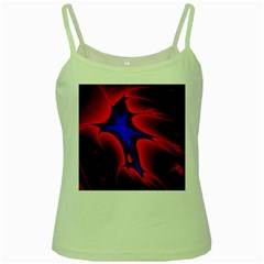Space Red Blue Black Line Light Green Spaghetti Tank by Mariart