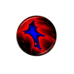 Space Red Blue Black Line Light Hat Clip Ball Marker (4 Pack) by Mariart