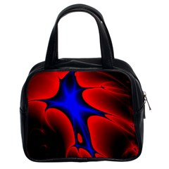 Space Red Blue Black Line Light Classic Handbags (2 Sides) by Mariart