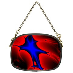 Space Red Blue Black Line Light Chain Purses (two Sides)