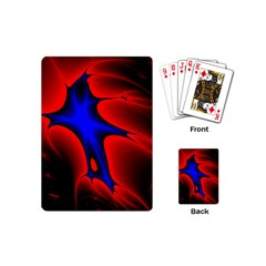 Space Red Blue Black Line Light Playing Cards (mini)  by Mariart