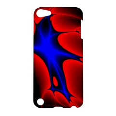Space Red Blue Black Line Light Apple Ipod Touch 5 Hardshell Case by Mariart