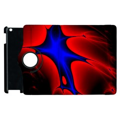Space Red Blue Black Line Light Apple Ipad 2 Flip 360 Case by Mariart