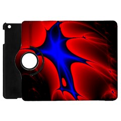 Space Red Blue Black Line Light Apple Ipad Mini Flip 360 Case