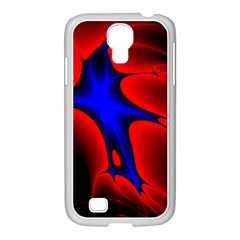 Space Red Blue Black Line Light Samsung Galaxy S4 I9500/ I9505 Case (white)