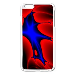 Space Red Blue Black Line Light Apple Iphone 6 Plus/6s Plus Enamel White Case by Mariart