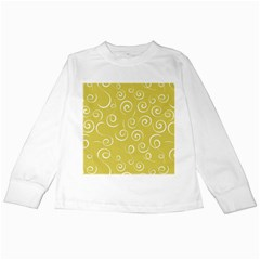 Floral Pattern Kids Long Sleeve T Shirts by ValentinaDesign
