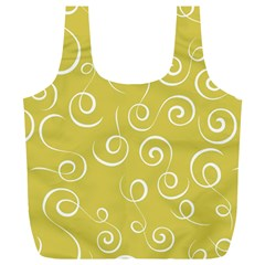 Floral Pattern Full Print Recycle Bags (l)  by ValentinaDesign