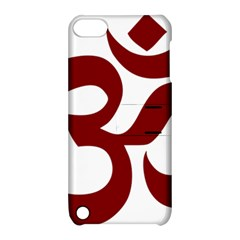 Hindu Om Symbol (dark Red) Apple Ipod Touch 5 Hardshell Case With Stand by abbeyz71