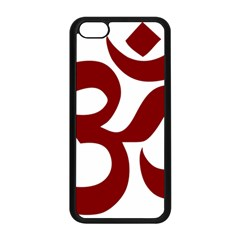 Hindu Om Symbol (dark Red) Apple Iphone 5c Seamless Case (black) by abbeyz71