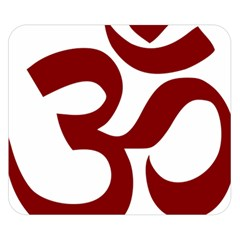 Hindu Om Symbol (dark Red) Double Sided Flano Blanket (small)  by abbeyz71