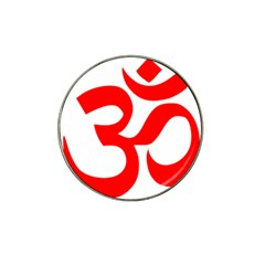 Hindu Om Symbol (red) Hat Clip Ball Marker (4 Pack) by abbeyz71